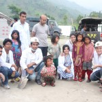 Medical team with children